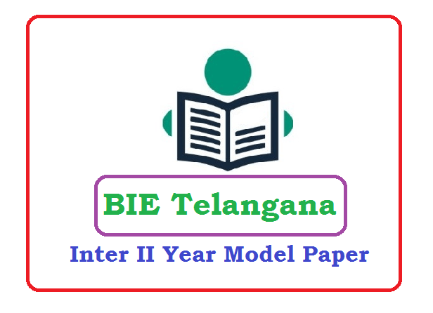 Telangana Intermediate II Year Model Paper 2020 Blueprint (*All Subject) Pdf Download