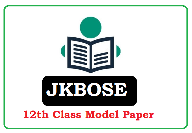 JKBOSE 12th Class Model Paper 2020 (*All Subject) Pdf Download